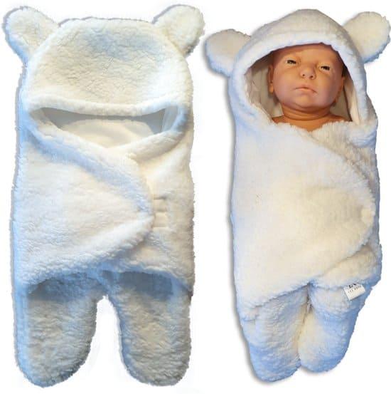 Les Rois Slaapzak Baby - Omslagdoek Baby - Wikkeldekens - Beer Knuffel / Teddybeer Deken - Wikkeldeken Baby - Draagdoeken - Baby Shower - Inbakerdoek