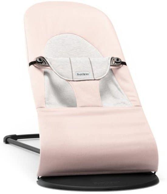 BABYBJÖRN Wipstoeltje Balance Soft Lichtroze/Grijs, Cotton/Jersey