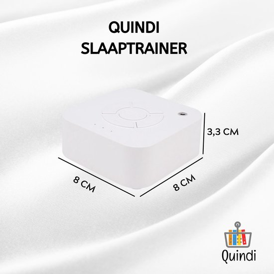 Quindi Slaaptrainer - Slaaphulp - White Noise Machine voor Baby/Kinderen/Volwassenen/Ouderen - Snoezelen - 9 Natuurlijke Geluiden - Witte Ruis - Timer Functie 15/30/60 - NL gebruiksaanwijzing -  Inclusief Gratis 5V Adapter