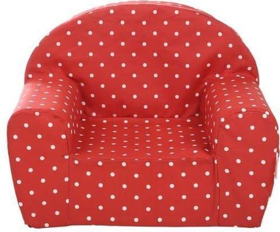 Gepetto relax stoel voor kinderen - rood met witte stippen