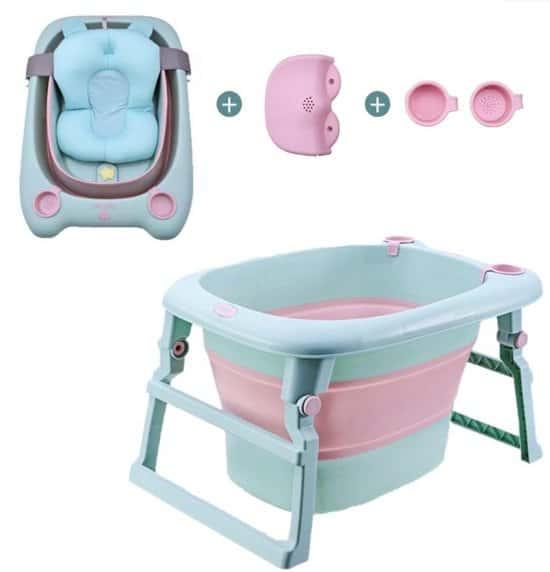 Opvouwbaar babybad 3-in 1 van 0-12 jaar kinderbad inklapbaar in twee maten van babybadje naar kinderbadje