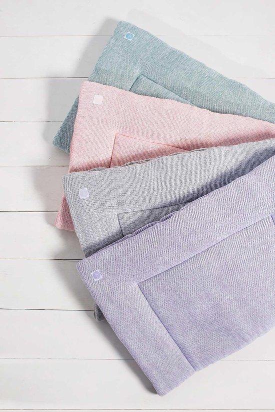 Jollein boxkleed Melange knit - 80x100 cm - soft lilac
