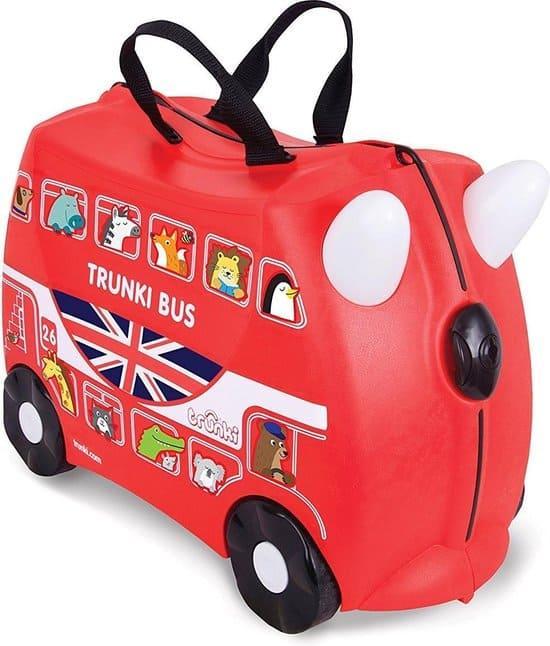 Trunki Londos Bus - EXCLUSIEF - 22cm - Rood - met stickerset