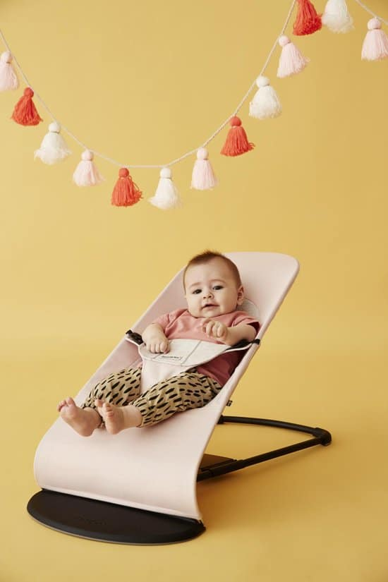 BABYBJÖRN Wipstoel Balance Soft - Lichtroze-Grijs Cotton-Jersey
