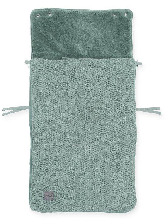 Jollein Voetenzak River Knit - Groep 0+ - Ash green